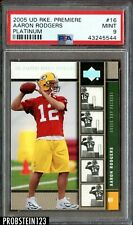2005 UD Rookie Premiere Platinum #16 Aaron Rodgers Green Bay Packers RC PSA 9