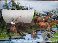 Big Country Western Cowboy Set, Set Contains  Cowboys  Horses Covered Wagon