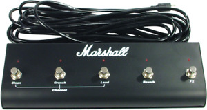 Marshall Footswitch - 5 Button with LED - 6 Pin DIN Plug