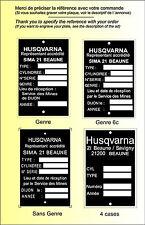 PLAQUES CONSTRUCTEUR motos HUSQVARNA - VIN PLATES HUSQVARNA