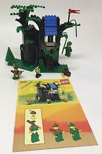 LEGO Castle Forestmen's Hideout 6054 100% Complete With Instructions! LOOK! 1988