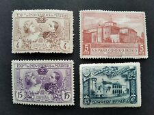 SPAIN LOT OF 4 MINT EXHIBITION MADRID AIR MAIL AND UNION IBEROAMERICANA