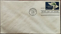 Alliance For Progress 5c First Day Of Issue Envelope Washington D.C. 17 Aug 1963