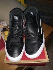 Vans SK8-Hi Premium Leather 10.5 rare black leather