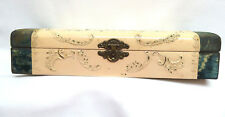 Celluloid & Velvet, Silk Lined, Hinged Top Vanity Glove Box