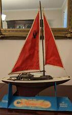 Vintage 1960's Eldon Racing Sloop Plastic Toy Pond Sail Boat Original Display