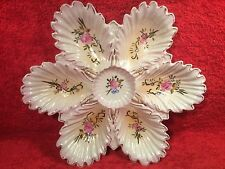 Antique Ruffled Edge Porcelain Oyster Plate, op398 ANTIQUE GIFT QUALITY!