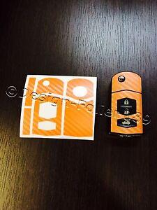 Carbon orange Folie Schlüssel Mazda RX8 NC 2 3 5 6 MX5 SL CX 7 CX  9 uvm