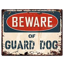 PP1588 Beware of GUARD DOG Plate Rustic Chic Sign Home Room Store Decor