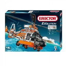 Erector Evolution Rescue Helicopter Meccano Construction Toy Motorized Metal