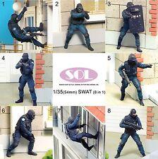 [SOL Model] 1/35 SWAT Team, 8 Figure set(Base is not included)