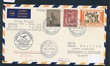 62428) LH FF Oslo Norwegen - Kopenhagen 1.4.69, Brief ab Vatikan