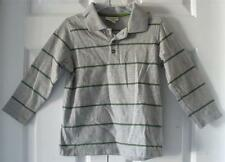 Cherokee Boys Toddler Gray Grn Striped Boys Classic Summer L/S Polo Shirt Sz 4T