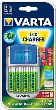 Varta Akku Ladegerät Charger LCD USB IN KFZ 4x AA 2400mAh für 4 AA / AAA 57070