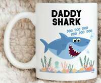 Daddy Shark Mug Best Dad Gifts For Daddy Mug Funny Fathers Day Gift Mug