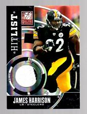 2011 Donruss Elite James Harrison Prime 2 Color Patch-Steelers Football 33/50