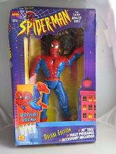 Spider-man 1995 10 in. Super Poseable Spider Man Deluxe Edition Animated MIB New