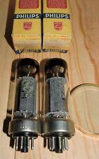 Well matched pair EL34 Philips & Miniwatt metal rim  plate disc getter