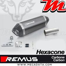 Silencieux échappement Remus Hexacone Carbone sans pare chaleur BMW R1200RS 2015
