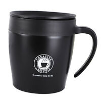 Vacuum Flask Stainless Water Bottle Mug Cup Double Wall Heat Insulated Black