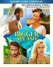 BLU-RAY A Bigger Splash (Blu-Ray/DVD) NEW Tilda Swinton
