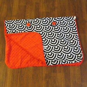 Carseat Canopy Baby Car Seat Cover Blanket with Minky Lining Solomon Black w Red