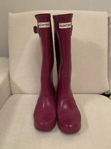 Women's Pink Hunter Wellies Size 5 Wellington Boots *Great Condition*