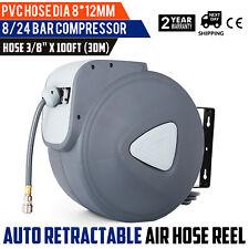 Air Hose Line Compressor Reel 100FT 30M 3/8'' Retractable Auto Rewind