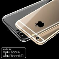 For iPhone 6 6s Ultra Thin Slim Clear TPU Soft Silicone Back Cover Case