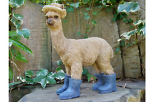 NOVELTY LLAMA IN BOOTS SUN HAT GARDEN OUTDOORS INDOORS ORNAMENT DECORATIVE GIFT