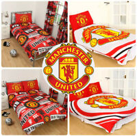 Manchester United FC Duvet Cover Football Bed Set Single Double Kids Adults