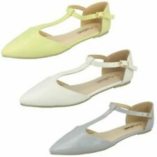 Ladies Anne Michelle T-Bar Flat Casual Shoes