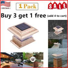 Outdoor Garden Solar LED Post Deck Cap Square 4