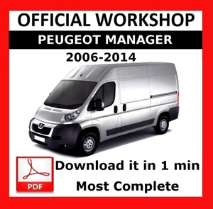 OFFICIAL WORKSHOP Manual Service Repair  Peugeot Manager 2006 - 2014