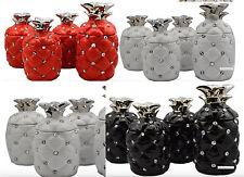 New Pineapple Tea Sugar Coffee Canisters Jar Romany Ornament Storage