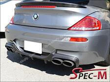 For 2006-2010 BMW E63 M6 2DR V Look Carbon Fiber Rear Bumper Add-On Diffuser