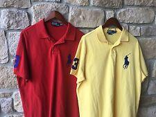 Vintage Polo Ralph Lauren Big Pony #3 XXL Custom Fit Rugby Shirt Mens Lot Of 2