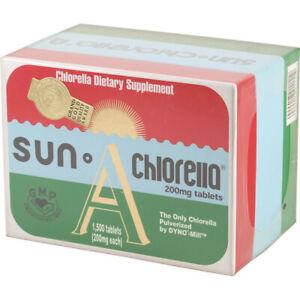 NEW Sun Chlorella 200mg 1500 Tablets SUN A Chlorella