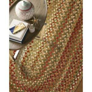 Capel Rugs Manchester Wool Country Casual Braided Area Rug Evergreen #200