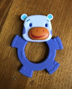 Bright Starts Friends Purple Cow Baby Teether Toy Replacement Used