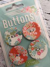 Tilda nuevo Bumblebee botones de tela de 4 X 28mm