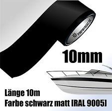 ZIERSTREIFEN 10m SCHWARZ MATT 10mm Auto Boot Jetski Modellbau Vinyl