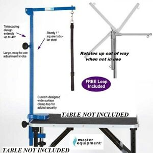 MASTER EQUIPMENT Pet GROOMER Foldable Adjustable Grooming TABLE ARM,CLAMP&LOOP B