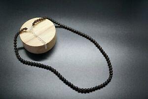 Smoky Quartz Bead Necklace Smooth Round Smoky Crystal Necklace Healing Crystal