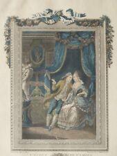 Gravure XVIII ème, l'école De l'Amour, d'Après Le Brun Gravée Par Chatelain 1772