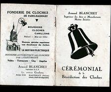 """BAGNOLET (93) FONDERIE USINE de CLOCHES """"Armand BLANCHET"""" Livret BENEDICTION"""