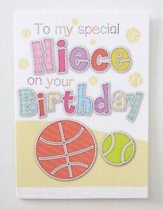 Happy Birthday Special Niece Greetings Card- UK Made- Girls/Kids Free P&P