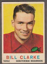 1959 TOPPS CFL BILL CLARKE SASKATCHEWAN ROUGHRIDERS #80 (REGINA DALES JR) EX+
