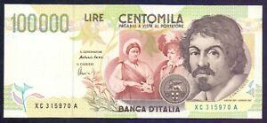 100000 lire Caravaggio II° tipo Serie Speciale XC - qSUP