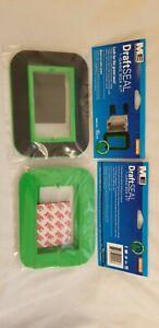 Box of 12 - Madison Electric DraftSEAL, 1-Gang Box Kit, Black and green - New